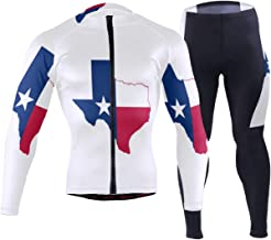 Flag of The Philippines Men's Cycling Jersey Long Sleeve Full Zip Bike Clothing Set Quick-Dry Padded Bicycle Pants