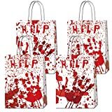 16 Pcs Halloween Bloody Gift Bag Horror Movie Party Paper Gift Bags Have A Killer Birthday Halloween Party Bags Thriller Theme Birthday Party Goody Bags Halloween Candy Bags