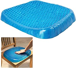 Premium All Gel Orthopedic Seat Cushion Pad for Car, Office Chair, Wheelchair, or Home Pressure Sore Relief. Ultimate Gel ...