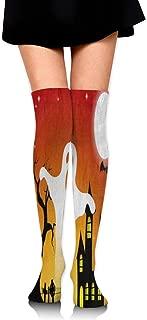 Randolph Wordsworth Thigh High Socks Happy Thanksgiving Day Tree of Life Over The Knee High Long Socks Winter Boot Stocking Girl