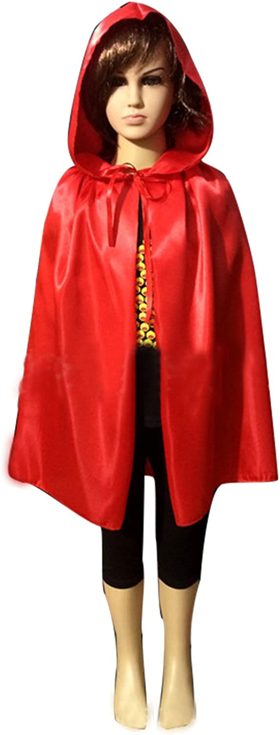 WESTLINK Cloak Sale Special Price with Hood Costume Red Memphis Mall Cape inches Hooded 23-66