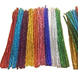 Caryko Tinsel Creative Arts Chenille Stems 6 mm x 12 Inch, Pack of 200 (Mix)