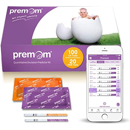 Premom Quantitative Ovulation Test Strips PMS2-S-40 Numerical Ovulation Predictor Kit with Digital Ovulation Reader APP