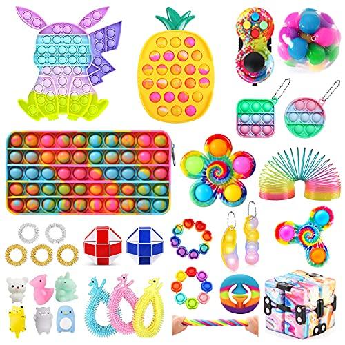 Mubineo Kids Toy Fidget Toy Box, Fidget Toy Pack, Sensory Squeeze Toy Fidget Toy Set pour Enfants et Adultes (Fidget Toy-12)