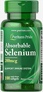 Puritan's Pride Absorbable Selenium 200 mcg-100 Softgels