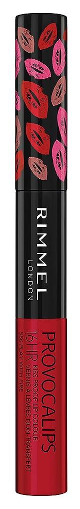 誰囚人請願者RIMMEL LONDON Provocalips 16Hr Kissproof Lip Colour - Play With Fire (並行輸入品)