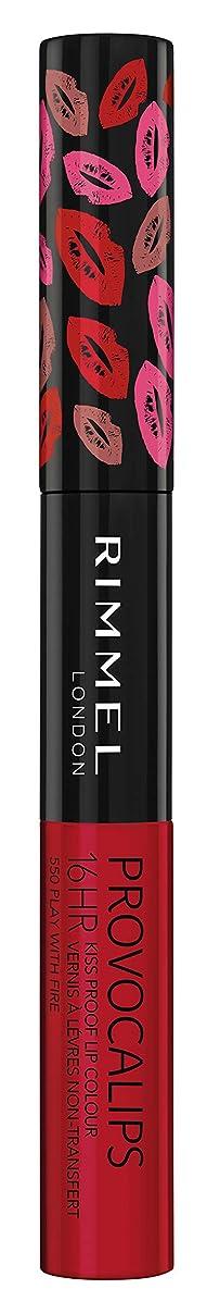 事故提供された持続的RIMMEL LONDON Provocalips 16Hr Kissproof Lip Colour - Play With Fire (並行輸入品)