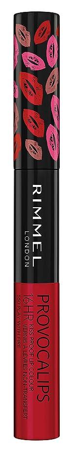 プロジェクタークラウドバラバラにするRIMMEL LONDON Provocalips 16Hr Kissproof Lip Colour - Play With Fire (並行輸入品)