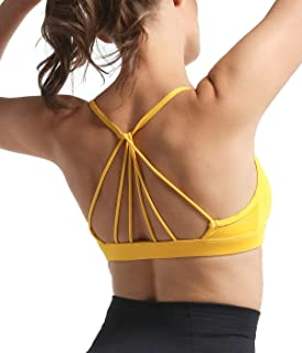 Snailify Women's Sports Bra Strappy Halter Crisscross High Impact Removable Padded Bras - Yoga Gym Workout