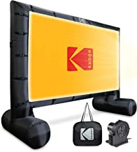 KODAK Inflatable Outdoor Projector Screen   14.5 Feet, Blow-Up Screen for Movies, TV, Sports Games & More   Includes Air Pump, Storage Carry Case, Stakes, Repair Patches