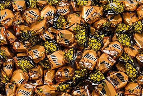 Caramelos Rellenos de Miel La Asturiana - Caramelo duro relleno de auténtica miel, calidad gourmet, bolsa de 1 kilo, sin gluten