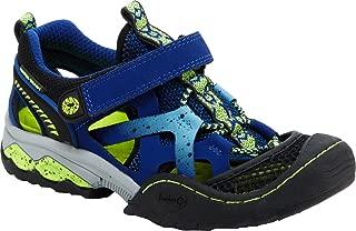 Jambu Boys' Squamata 4 Amphibious Sandal,Blue/Neon Synthetic/Textile/Leather,US