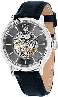 ساعة MASERATI للرجال بسوار من الجلد - ازرق، 13 كاجوال (R8821118002)