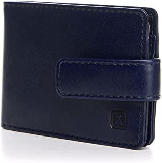 Optexx Card Holder RFID ID Card case Men/Women with RFID Protection TÜV Tested & Certified George Marine Blue Vegi Leather...