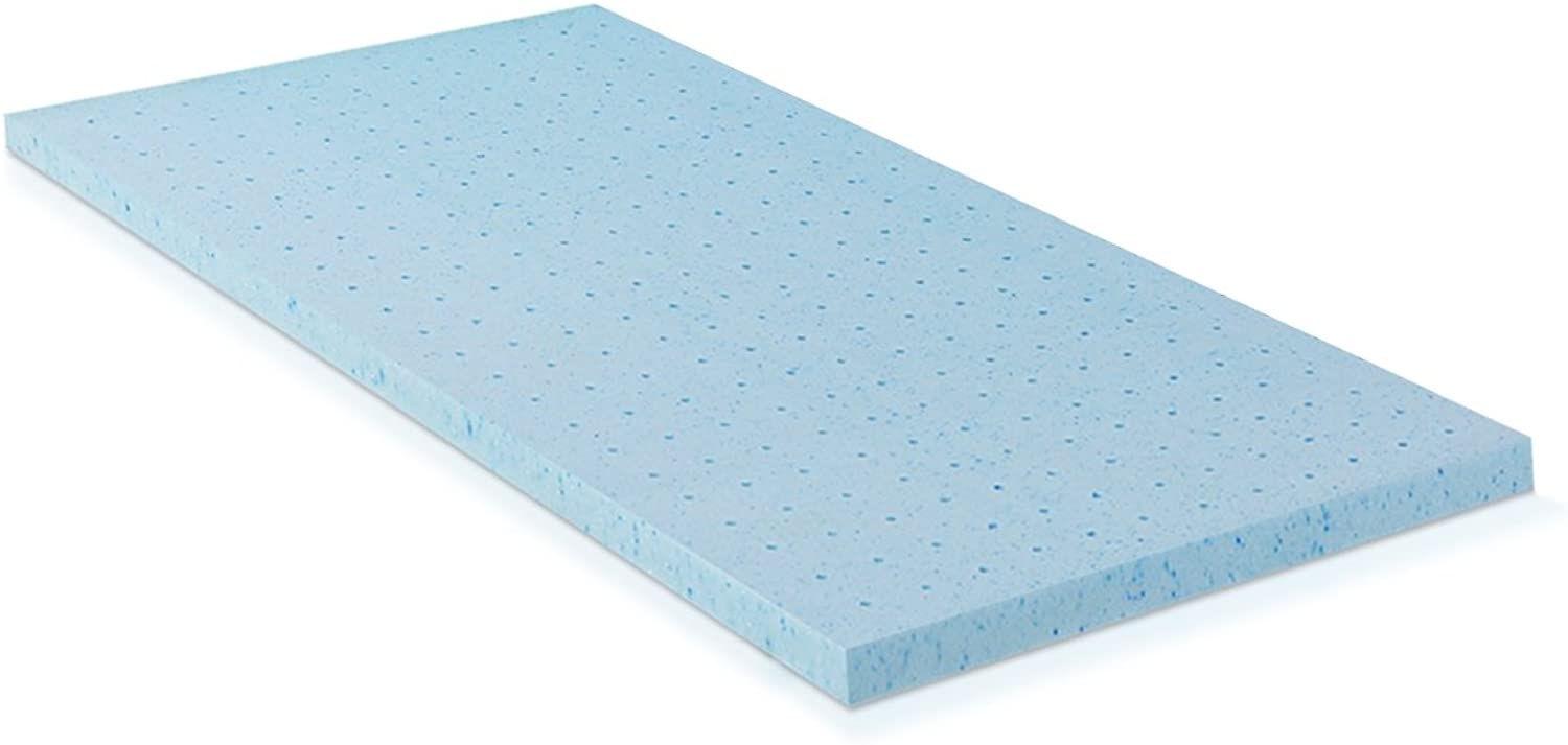 Furinno FT26221TXL 2-inch HD Gel-Infused Conventional Bed Mattress, Twin XL, bluee
