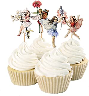 09cfe8779ea 24pcs Pretty Fairy Cupcake Toppers for Cake Decorations Baby Girls Children  Kids Toddlers Teens Birthday Supplies