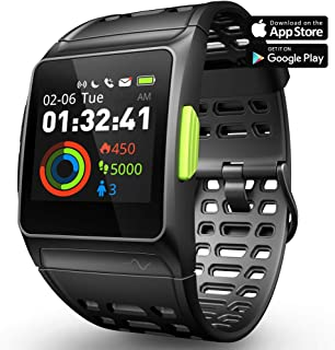 Fitness Tracker GPS Running Watch, Activity Tracker with Heart Rate Monitor, HRV Analysis, Pedometer, Sleep, Steps Tracker with Multi-Sports Modes, IP68 Waterproof Bluetooth Smart Watch