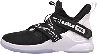 Nike Kids' Grade School Lebron Soldier XII Basketball Shoes (7, Black/White)