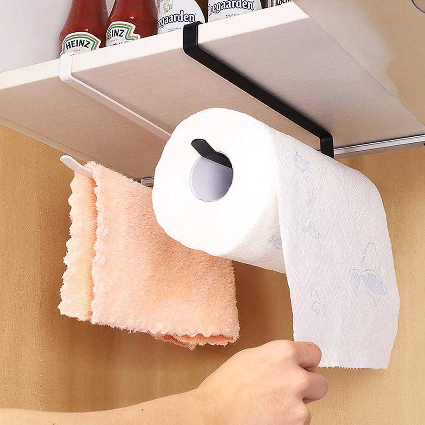 辛なフローティング授業料ラップホルダー AISIT 戸棚下キッチンペーパーホルダー 片手でカット 穴あけ不要 ホワイト