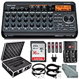 Tascam DP-008EX 8-Track Digital Pocketstudio Bundle with Protective Case +Rechargerbale Batteries & Charger + Cables + 16 GB + Fibertique Cleaning Cloth