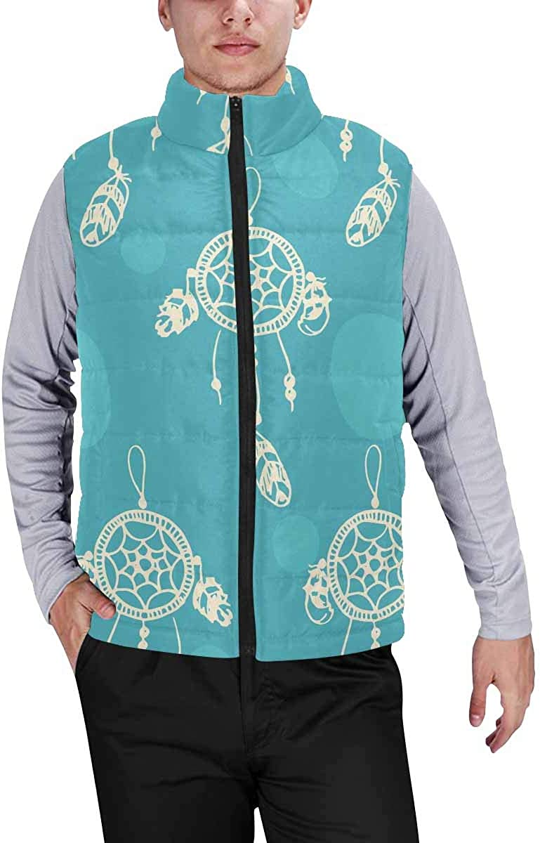 InterestPrint Men's Soft Stand Collar Jacket for Fishing Hiking Cycling Almond Food Background