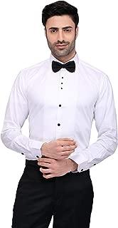 N Dot White Cotton Pleated Tuxedo Style Shirt