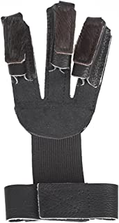 Krayney Adult Youth Leather Gloves Finger Protector, Shooting Hunting Arrow Bow Archery Gear Accessories