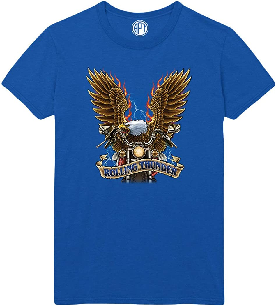 Rolling Thunder Biker with Eagle Printed T-Shirt