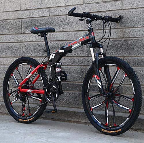 SWORDlimit 26 Inch Mountain Bike Folding for Men and Women