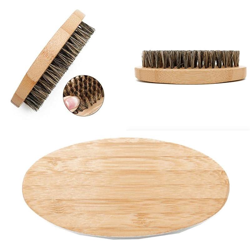 伝統的蒸ましいスタイリング、ボリューム、スムージング、カーリングのための木製のハンドル付き3本の猪のブリストルブラシミディアムレングス、シン、シック、ストレート、カーリーヘア