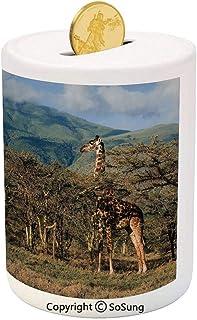Light Brown Giraffe Piggy Bank