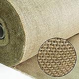 Roban Fashion Jute Stoff Fortlaufend 160 breit natürlicher Stoff Gartenjute für Pflanzen Wurzel-Schutz meterware Sackleinen für Haus & Garten