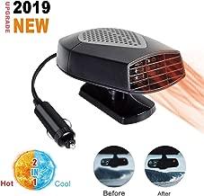 Windshield Car Heater,Auto Heater Fan Portable Car Defroster Defogger 12V 150W Auto Ceramic Heater Fan 2 in 1 Heating Cooling Function Plug in Cig Lighter (Black)
