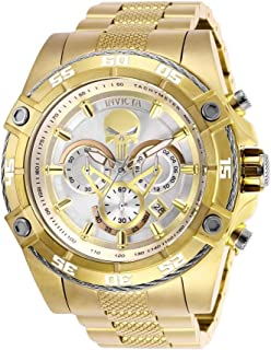 Invicta Mens Marvel Quartz Watch with Stainless-Steel Strap, Silver/Gold, ...