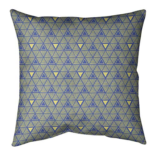 Buy Bargain ArtVerse Patricia Geoffrey Full Color Hand Drawn Triangles Pillow (w/Removable Insert) -...