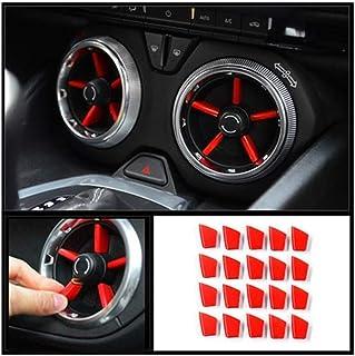 RJJX 20pcs neues Auto Rot Innenklimaanlage Vent Outlet Abdeckung Trim Dekoration Fit for Chevrolet Camaro 2016 2017 2018