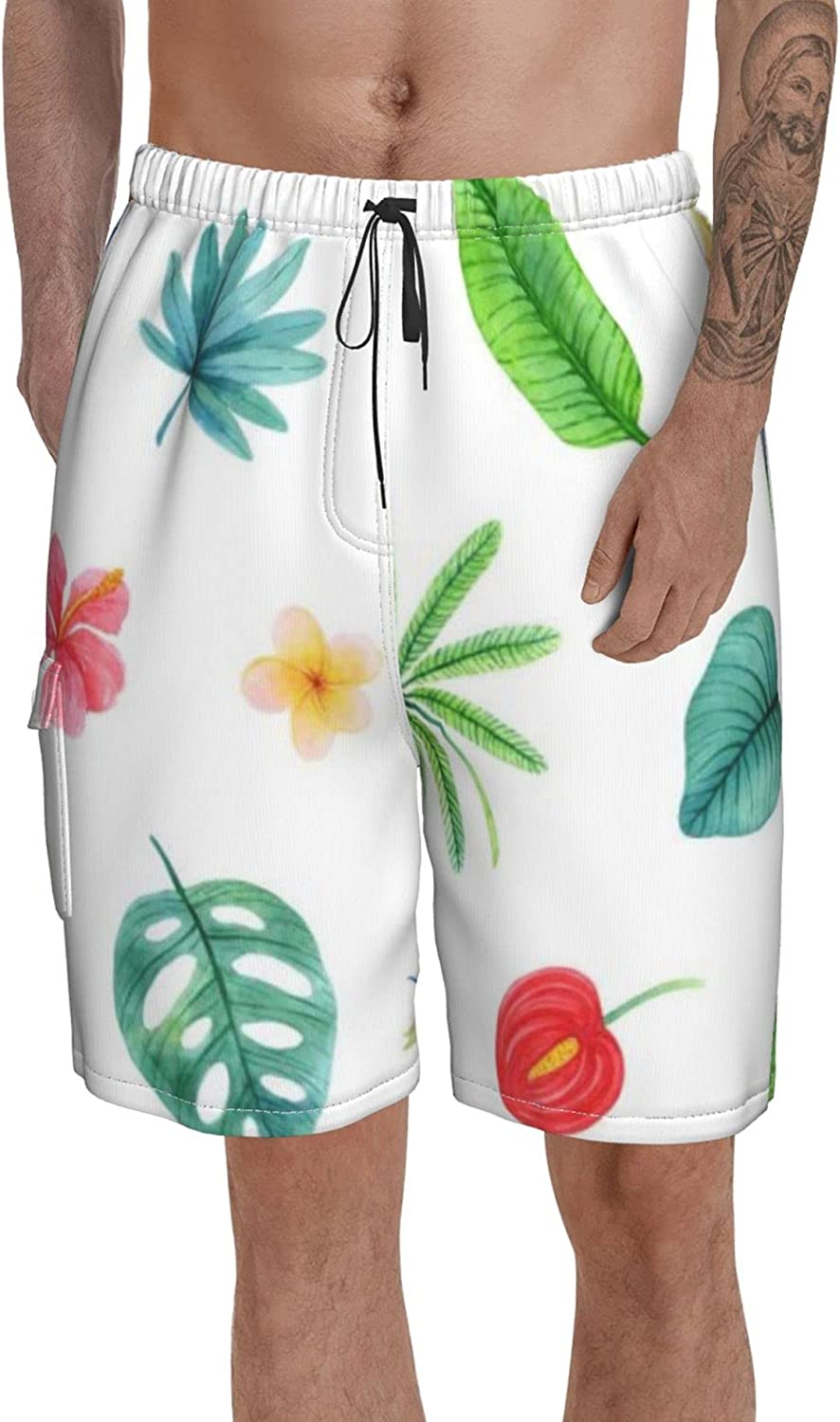 Men Swimming Free Max 64% OFF shipping Shorts Big and Tall Pineapple Trunk Macaw Swim