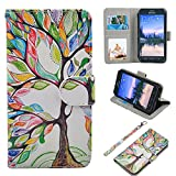 S6 Active Case, UrSpeedtekLive Galaxy S6 Active Wallet Case, Premium PU Leather Wristlet Flip Case Cover with Card Slots & Stand for Samsung Galaxy S6 Active