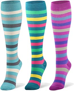 Compression Socks (20-30mmHg) for Women & Men – 1 to 8 Pairs Graduated Compression Stockings Best for Running, Nursing