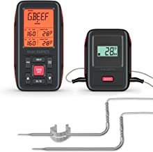 Inkbird IRF-2SA 500ft Wireless Meat Thermometer, Digital Cooking Meat Thermometer with..