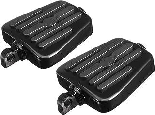 Black GUAIMI Motorcycle Floorboards Foot Pegs Adjustable Footrest Footboard for Harley XL883 XL1200 X48 72 California Skull