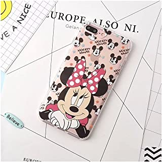 Cartoon Mickey Minnie Mouse Transparent Soft Silicone Phone Case Back Cover for I Phone XR (I Phone XR/Minnie)