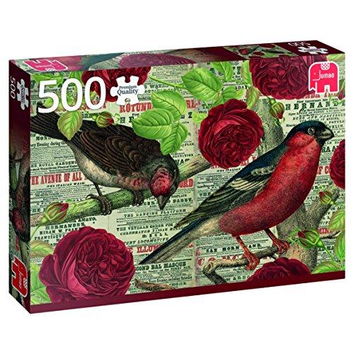 Jumbo-Los Pájaros Aman Las Flores, Puzzle de 500 Piezas (618398)