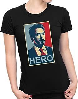 Nouveau Marvel Super-héros Iron Man3 Tony Stark T-shirt homme lumineux Manches Courtes