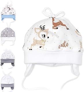 Baby Sweets Unisex Baby Mütze für Mädchen & Jungen in Grau, Weiß und Hellblau/Erstlingsmützen in vielen Farben als Babymütze für Neugeborene & Kleinkinder in verschiedenen Größen 0-18 Monate