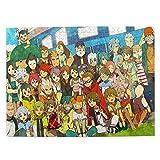 Puzzle 520 Piece,Rompecabezas con Imágenes Inazuma Eleven, Llamativos Rompecabezas De Madera para Colega,52.2x38.6cm