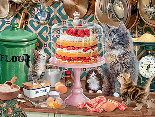 Buffalo Games - Cats Collection - Please, Please Leave The Lid Off - 750 Piece Jigsaw Puzzle