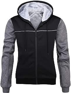 Snowmolle Men's Pullover Winter Workout Fleece Hoodie Jackets Full Zip Wool Warm Thick Coats Long Sleeve Sweatshirt