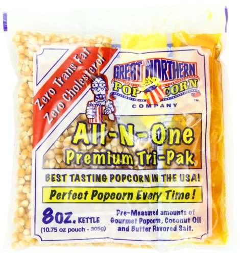 4110 Great Northern Popcorn Premium 8 Ounce (Pack of 24) Popcorn Portion Packs, Case of 24