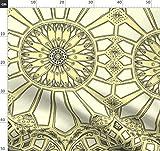 Art Deco, Dekorativ, Geometrisch, Zitronengelb, Sonnenblume